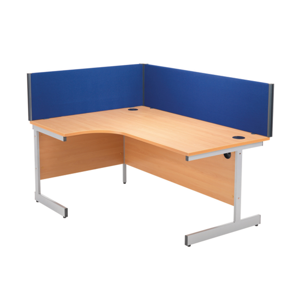 Jemini Blue 1600mm Straight Desk Screen