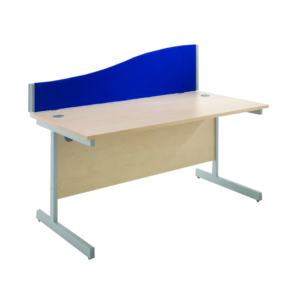 Jemini Blue 1600mm Wave Desk Screen