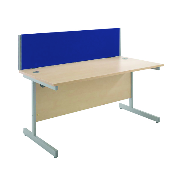 Jemini Blue 1500mm Straight Desk Screen