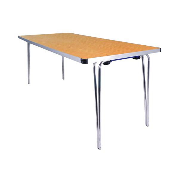 Jemini Saxon Oak W1520xD685xH698mm Folding Table