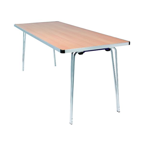 Jemini Japanese Beech W1830xD685xH698mm Aluminium Rectangular Folding Table KF74026