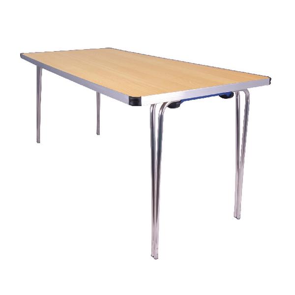 Jemini Japanese Beech W1520xD685xH698mm Rectangular Aluminium Folding Table  KF74028