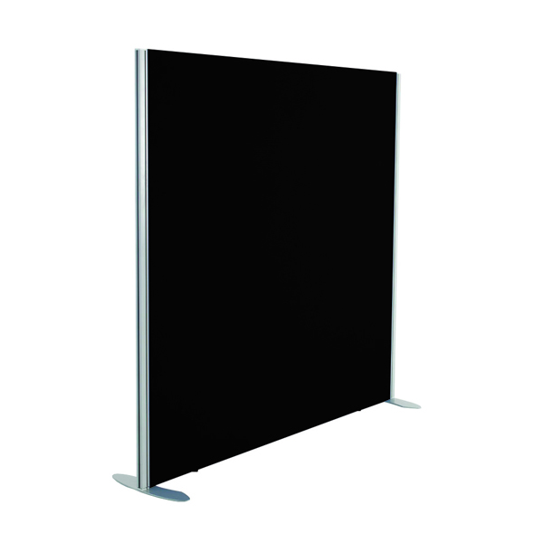 Jemini Black 1200x1200 Floor Standing Screen Including Feet