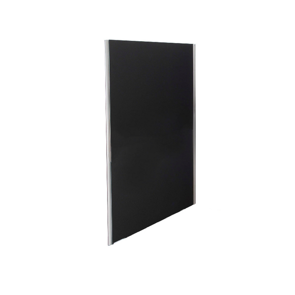 Jemini Black 1800x800 Floor Standing Screen Including Feet