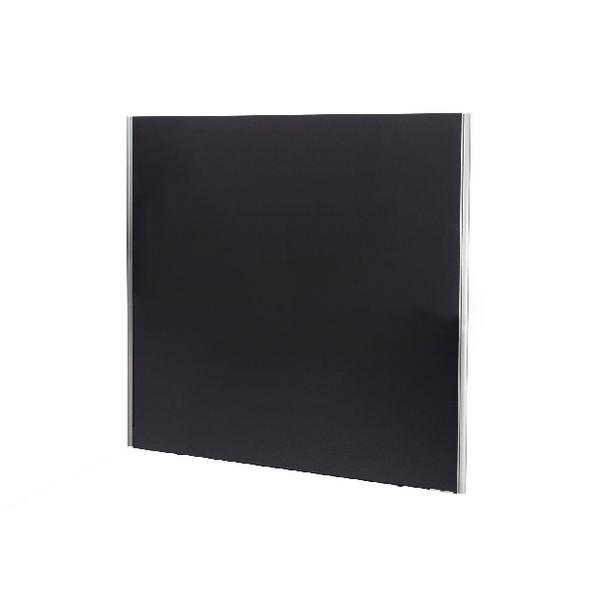 Jemini Black 1800x1600 Floor Standing Screen Including Feet