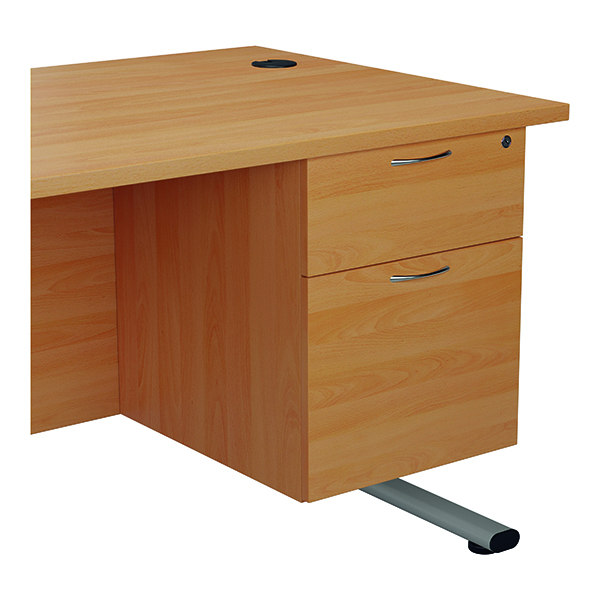 Jemini 655 Fixed Pedestal 2 Drawer Beech
