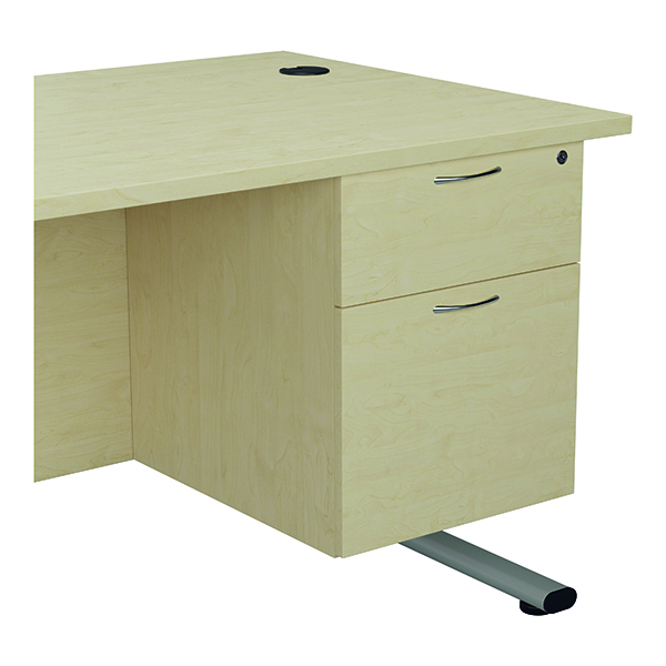 Jemini 655 Fixed Pedestal 2 Drawer Maple