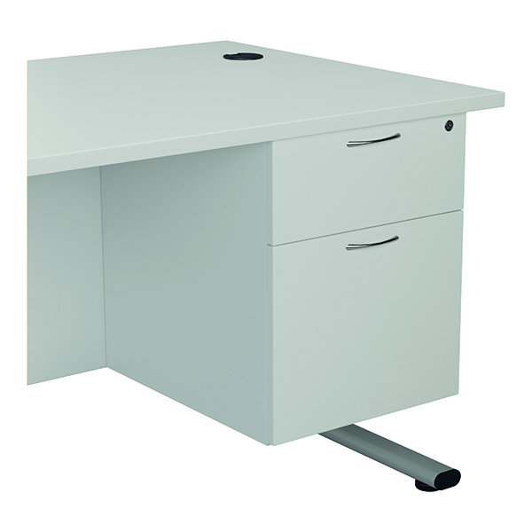 Jemini 655 Fixed Pedestal 2 Drawer White KF74416