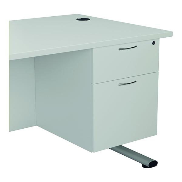 Jemini 2 Drawer Fixed Pedestal 404x655x495mmWhite