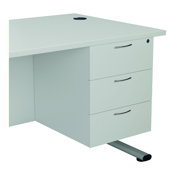 Jemini 655 Fixed Pedestal 3 Drawer White