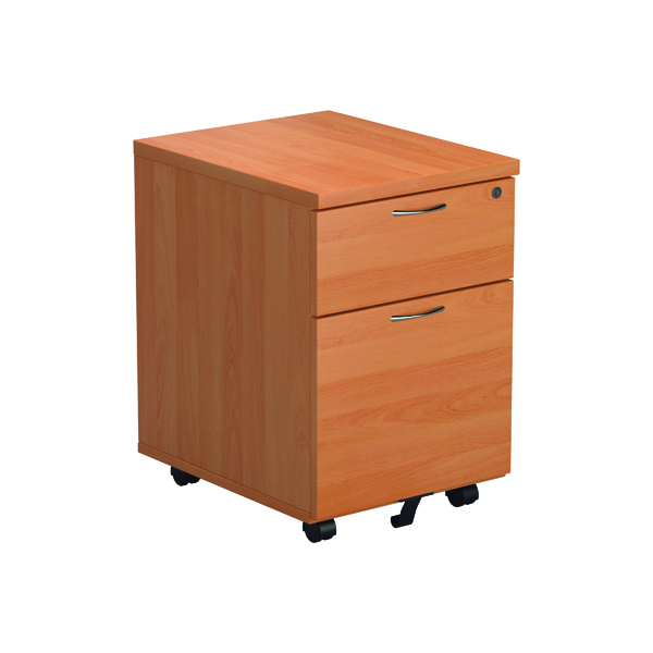 Jemini Beech 2 Drawer Mobile Pedestal Version 2
