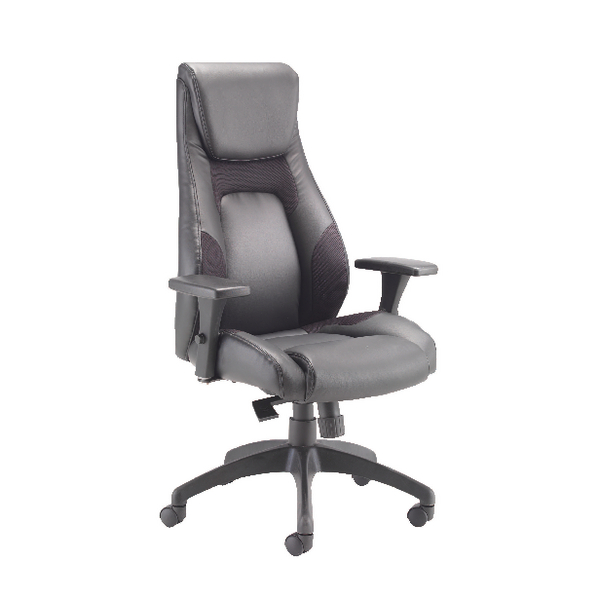 Avior Veloce Leather Look and Mesh Chair (Seat height can be adjusted)