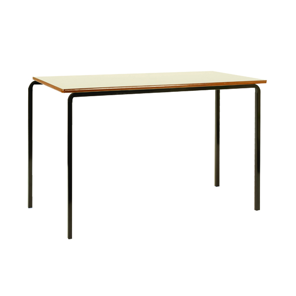 Jemini MDF Edged Class Table W1100 x D550 x H590mm Beech/Black (Pack of 4) KF74550