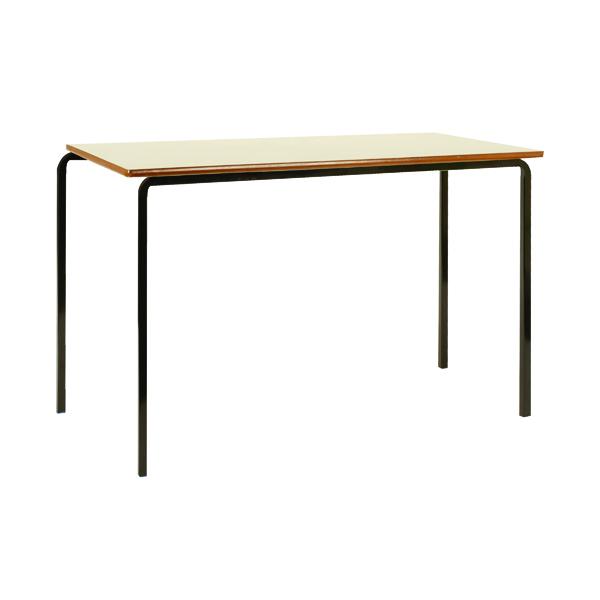Jemini MDF Edged Class Table W1100 x D550 x H710mm Beech/Black (Pack of 4)