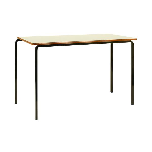 Jemini MDF Edged Class Table W1200 x D600 x H710mm Beech/Black (Pack of 4)