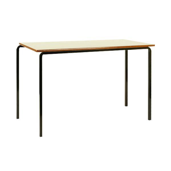 Jemini MDF Edged Class Table W1200 x D600 x H760mm Beech/Black (Pack of 4) KF74555