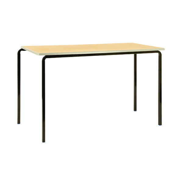 Jemini PU Edged Class Table W1200 x D600 x H710mm Beech/Black (Pack of 4)