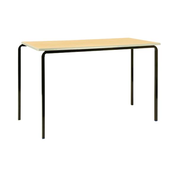 Jemini PU Edged Class Table W1100 x D550 x H760mm Beech/Black (Pack of 4)