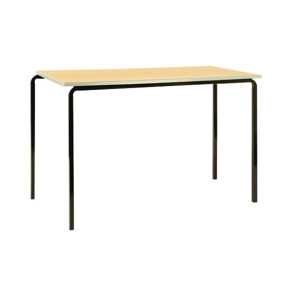 Jemini PU Edged Class Table W1100 x D550 x H590mm Beech/Silver (Pack of 4)