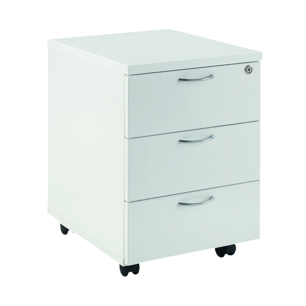 Image for First Mobile Under Desk Pedestal 3 Door White KF74768