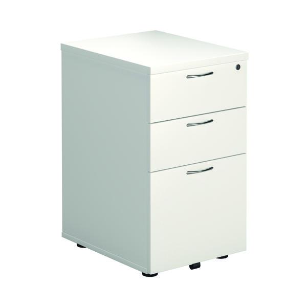First 3 Drawer Under Desk Pedestal 404x500x690mm White