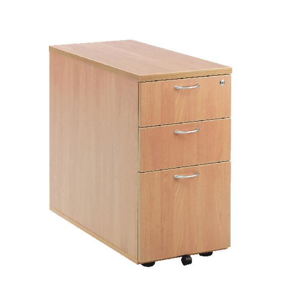 First Desk High Pedestal 3 Drawer 800mm Deep Beech