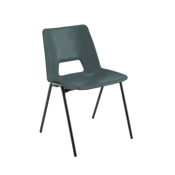 Jemini Polypropylene Stacking Chair Black (Suitable for indoor and outdoor use) KF74957
