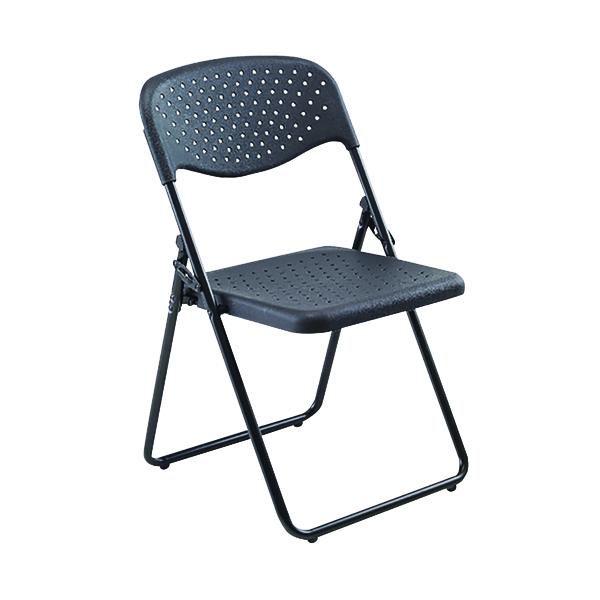 Jemini Folding Chair Black (Pack of 4) KF74963