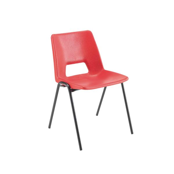 Jemini Polypropylene Stacking Chair 430mm Red KF74979
