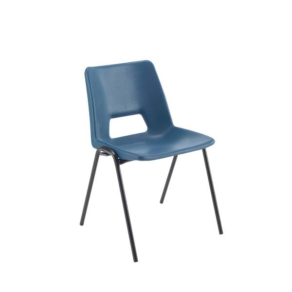 Jemini Polypropylene Stacking Chair 430mm Blue