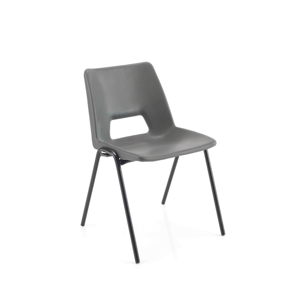 Image for Jemini Polypropylene Stacking Chair 260mm Charcoal KF74990