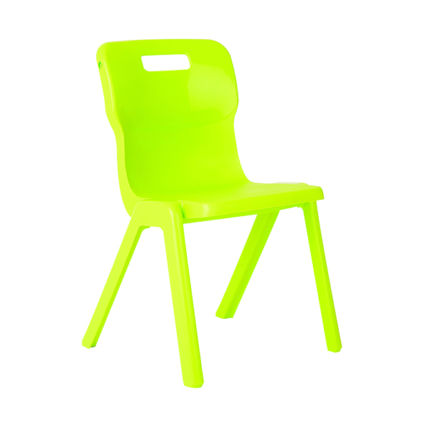 Titan One Piece School Chair Size 2 Lime (All in one plastic construction)