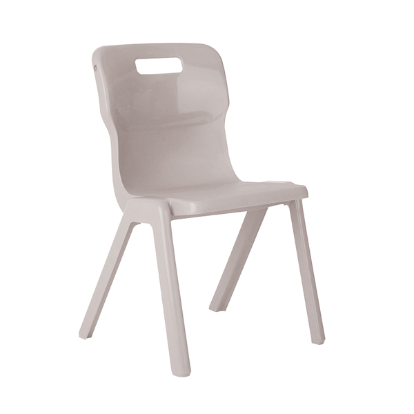 Titan One Piece School Chair Size 6 Grey (All in one plastic construction)