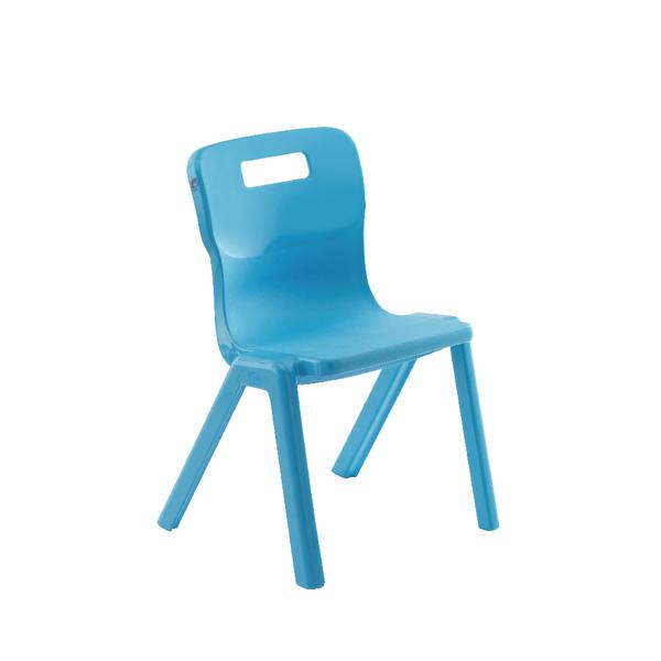 Titan 1 Piece Chair 350mm Sky Blue Pack of 10