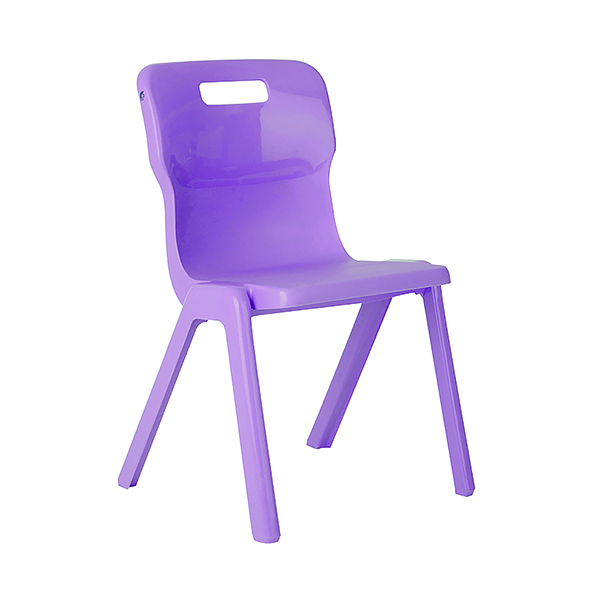 Titan One Piece Chair 430mm Purple (Pack of 10)