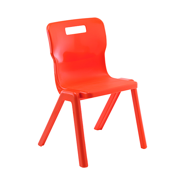 Titan One Piece Chair 430mm Orange (Pack of 10) KF78574