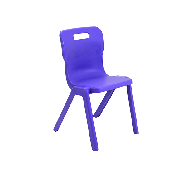 Titan One Piece Chair 460mm Purple (Pack of 10)