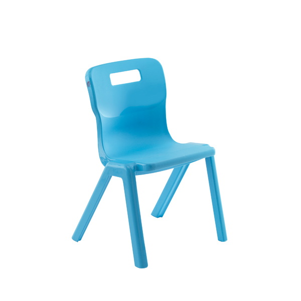 Titan 1 Piece Chair 380mm Sky Blue Pack of 30