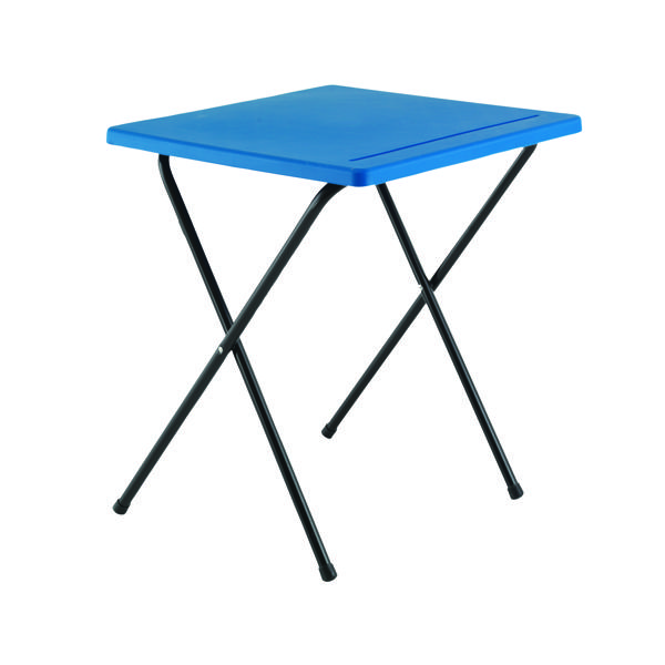 Titan Folding Exam Desk Polypropylene Blue