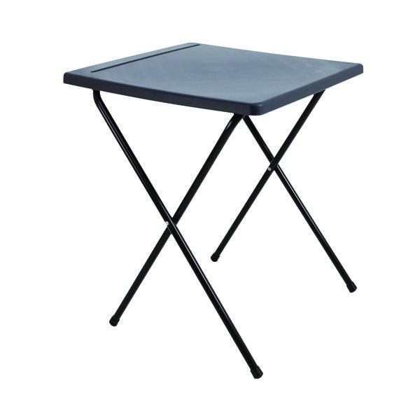 Titan Folding Exam Desk Polypropylene Charcoal KF78653