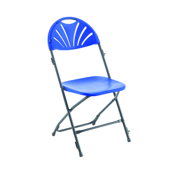 Titan Folding Chair Blue (Overall Dimensions W460 x D515 x H870mm)