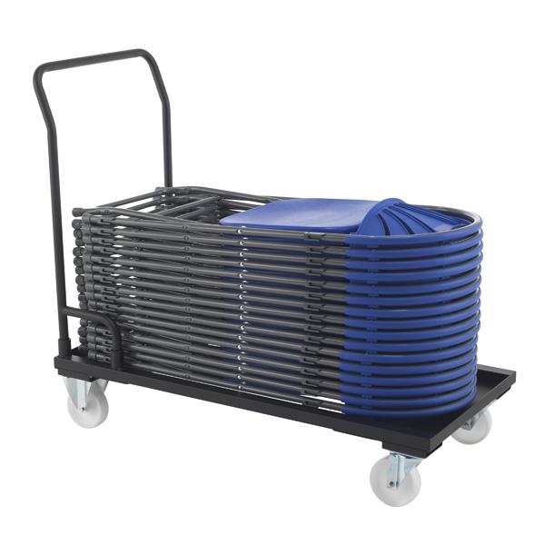 Titan Folding Chair Trolley Black (W540 x D1120 x H1000mm)