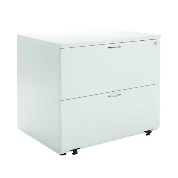 Jemini White 2 Drawer Side Filer