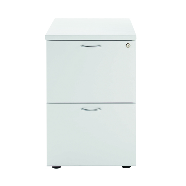 Jemini White 2 Drawer Filing Cabinet