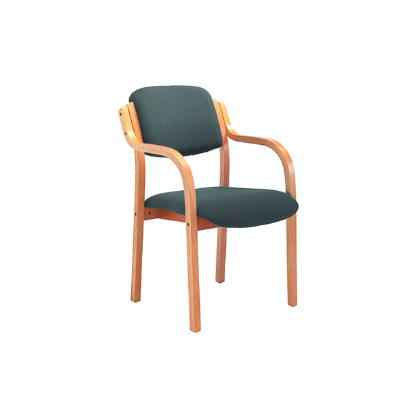 Jemini Charcoal Wood Frame Arm Chair
