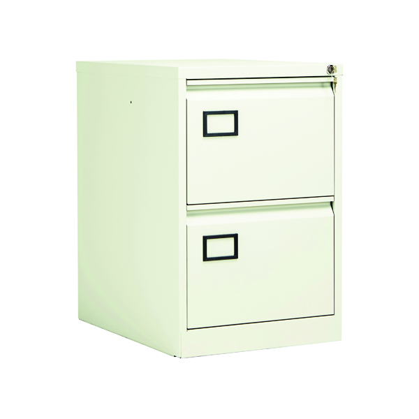 Jemini 2 Drawer Filing Cabinet White