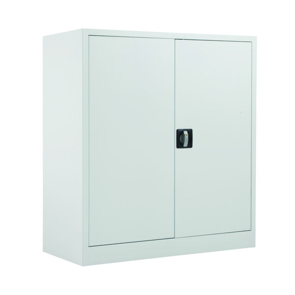 Talos Double Door Stationery Cupboard 1000 White