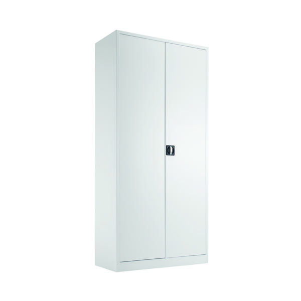 Talos Double Door Stationery Cupboard 1950 White KF78757