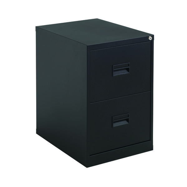 Talos 2 Drawer Filing Cabinet Black