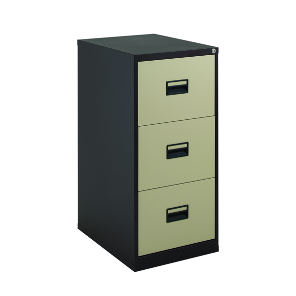 Talos 3 Drawer Filing Cabinet Coffee Cream